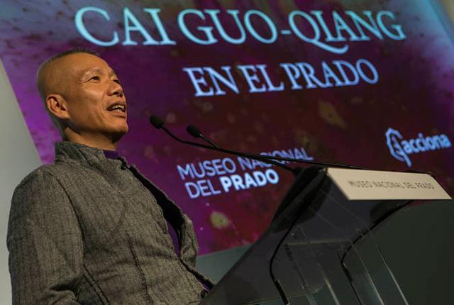 El artista contemporáneo Cai Guo-Qiang en el Museo del Prado, Madrid