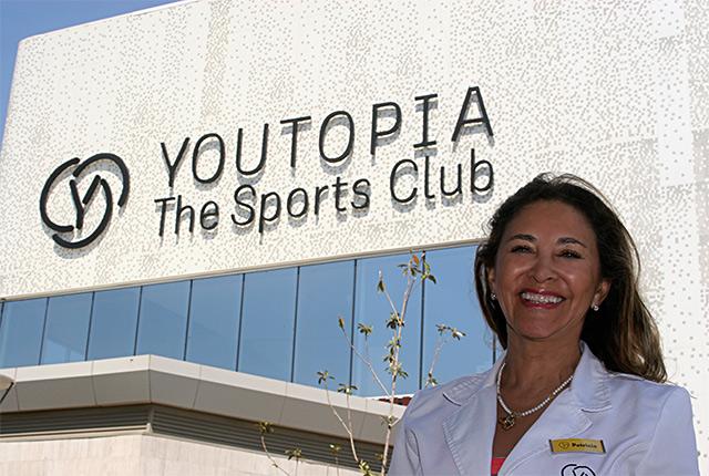 Patricia Padrón, nutricionista en el centro deportivo Youtopia